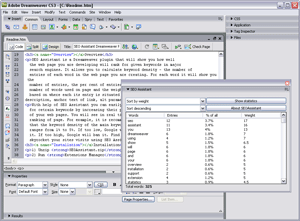SEO Assistant Dreamweaver Plugin Screenshot